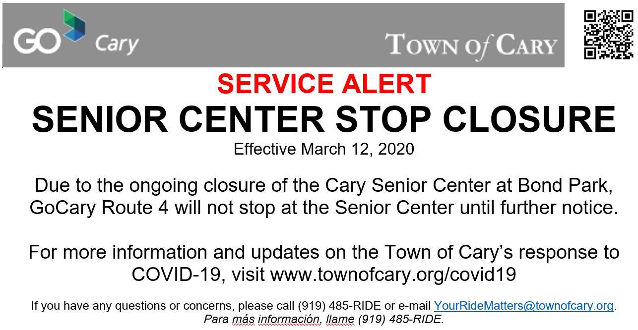 Senior Center Closure