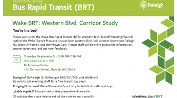 Western Blvd Kickoff Meeting