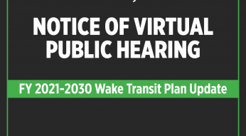 Virtual Public Hearing for Wake Transit
