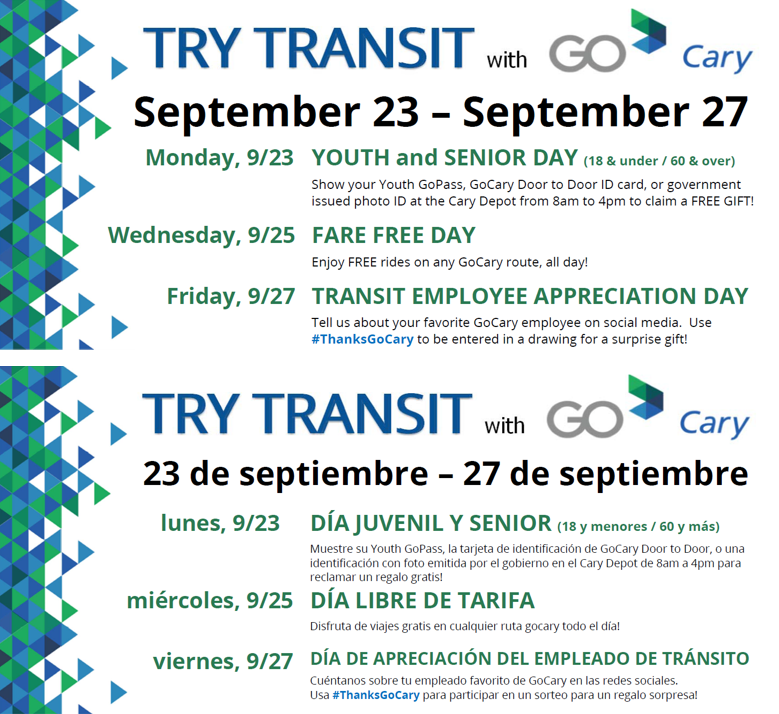GoCary Try Transit Ad